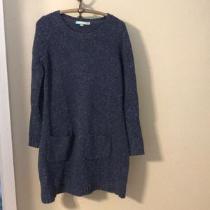 Boden blue sweater tunic with pockets
